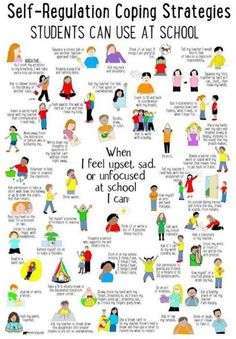 What's Included: ✔ 50 Self-Regulation Coping Strategies Students Can Use at School poster ✔ Checklist to identity coping skills ✔ Spinner Craft ✔ Task Cards perfect to use in your Calm Down Corner, Zen Zone, Peace Center area. School Counseling Office, School Counselor, School Classroom, Classroom Ideas, Behavior Management, Classroom Management, Social Work, Social Skills, Emotional Regulation