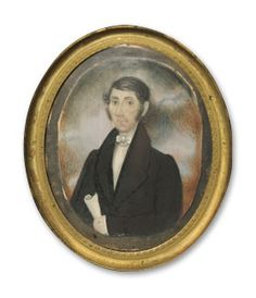Abraham Parsell (1791-1856), attributed, Miniature Portrait of David Jones, ca. 1835. Watercolor on ivory. Courtesy of the New Jersey Historical Society. 1936.12.
