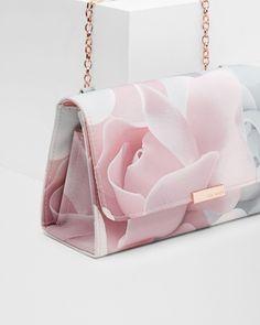Porcelain Rose evening bag - Nude Pink Bags Ted Baker More Buy Women fashio Luxury Bags, Luxury Handbags, Fashion Handbags, Purses And Handbags, Fashion Bags, Cheap Handbags, Summer Handbags, Pink Handbags, Ladies Handbags
