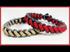 "Paracord Bracelet Tutorial: ""X Falls"" Bracelet Design Without Buckle - YouTube"