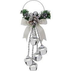 Silver Jingle Bell Door Hanger | Homebase