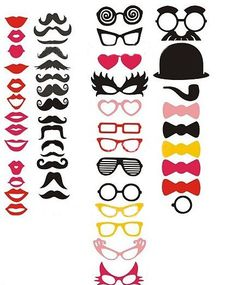 Wedding Photobooth Props  50 PCS  Photo Props set Birthday Photo Booth Props Wacky props on Etsy, 28,28€