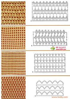 good stitch inspiration for summer wraps!