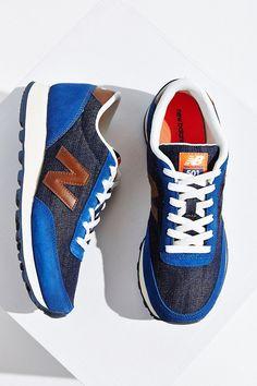 New Balance 501 Vintage Indigo Running Sneaker - Urban Outfitters