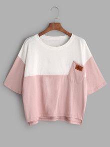 Camiseta asimétrica - color block