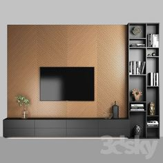 awesome Stylish Tv Wall Unit Ideas For Stunning Living Room Design Rugs In Living Room, Living Room Decor, Room Rugs, Living Room Ideas Tv Wall, Tv Wall Decor, Wall Tv, Wall Mirrors, Tv Unit Decor, Bedroom Tv Wall