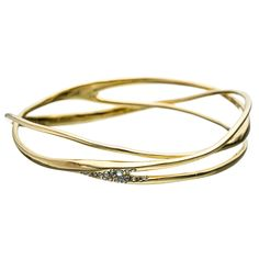 Liquid Gold Pave Wave Bangle :: Alexis' Picks :: Featured :: Alexis Bittar