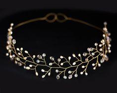 Bridal+Crystal+Crown+Tiara+Oro+Accesorio+para+el+p+de+Arsiart+por+DaWanda.com