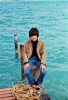 """Mr. George Harrison of The Beatles in the Bahamas during the filming of the 1965 film """"Help!""""."""