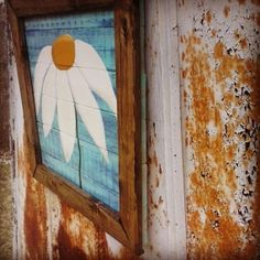 Daisy Painted on Reclaimed Wood with by BarnCountryFurniture, $69.00