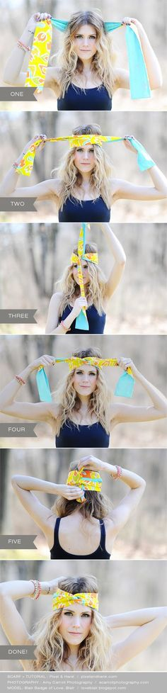 How to tie a turban headband by Pixel  Hank. Photography by @Amy Lyons Lyons Carroll - Model: @Blair R R Badge