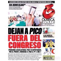 Les compartimos las portadas de los diarios locales de #Tabasco