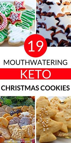 The best Keto Christmas cookies for the holidays. These easy low carb cookies include options with almond flour, cream cheese, stevia, peanut butter, coconut oil and more! About 19 Keto Christma Keto Foods, Ketogenic Recipes, Keto Snacks, Low Carb Recipes, Keto Desserts, Keto Meal, Healthy Foods, Keto Cookies, Cookies Et Biscuits