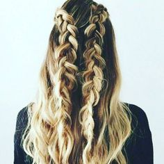 Double Dutch Braids.  #Hair by Mel   #gorgeousgirlapproved #instahair #instabraid #style #sweaterweather #love #blonde #blondehair #nyc