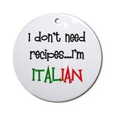 italian recipes Ornament (Round) for