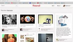 PINTEREST TRICK: Search Pins by Site. Go to  pinterest.com/source/mashable.com to discover all the Pins that originated on that website. Once you're done taking a peek at our content, type in any website to see whether anyone has pinned from it.