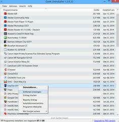 Der GeekUninstaller ist ein praktisches Tool, vor allem für schnelles Deinstallieren von hartnäckigen Programmen