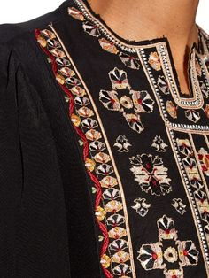 Isabel Marant Roma embroidered silk top
