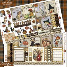 A Joyful Halloween Cute Planner Stickers Vintage Ephemera