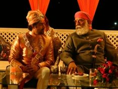 Kunwar Akshay Pal with HH Arvind Singh Ji of Mewar (Kutlehar) Udaipur, Royal House, Royal Weddings, Queen Elizabeth Ii, Wedding Pictures, Wedding Ceremony, Royalty, Indian
