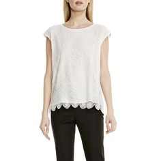 Vince Camuto Medallion Lace Top - Vince Camuto