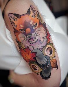 Nature Tattoos, Body Art Tattoos, Sleeve Tattoos, Compass Rose Tattoo, Piercings, Autumn Tattoo, Fox Tattoo, Girly Tattoos, Neo Traditional Tattoo