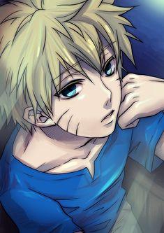 Uzumaki Naruto shojo style. I'm trying to decide if I like this or not...