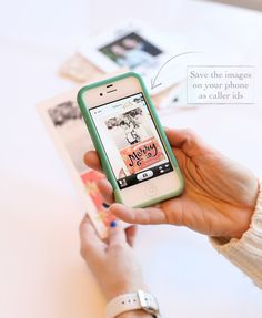 what to do with holiday cards after the holidays- take photos of the pictures them and use them as caller ids for your friends and family