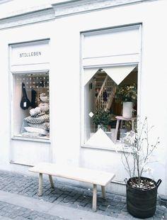 Stilleben, Copenhagen: Home Interiors and Design Store Shop Front Design, Store Design, Commercial Design, Commercial Interiors, Exterior Design, Interior And Exterior, Cafe Interior, Shop Facade, Store Windows