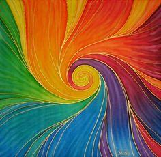°Revival ~ RainBow Spiral by silkmandalas