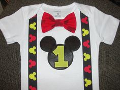 Mickey Mouse First Birthday Outfit Mickey Mouse Cake Smash