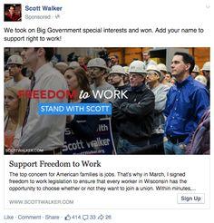 Scott Walker online ad.