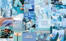Blue aesthetic wallpaper for Mac