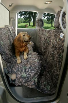 Canine Covers Custom Camo Seat Cover for Dogs Protect your truck, SUV or car rear seat in style from all your outdoor adventures with your dog using the Custom Camo Dog Seat Cover. No matter where lif