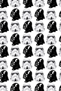 Darth Vader and Stormtrooper pattern Más