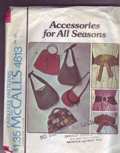 Purse Patterns, Amazon Art, Sewing Stores, Vintage Sewing Patterns, Bag Accessories, Sewing Crafts, Belts, Stylish, Wallet Pattern