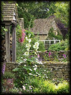 English Garden In the Cotswolds - Gardening For Life English Country Gardens, English Countryside, Garden Spaces, Dream Garden, Garden Inspiration, Beautiful Gardens, Garden Landscaping, Landscaping Design, Outdoor Gardens