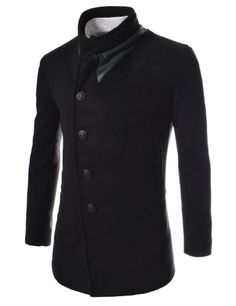 (CWC) TheLees Slim Unbalanced Leather Patched Wool Coat BLACK XX-Large(US X-Large) TheLees,http://www.amazon.com/dp/B00FEZ0EYI/ref=cm_sw_r_pi_dp_opuHsb0ENNWGXDTT