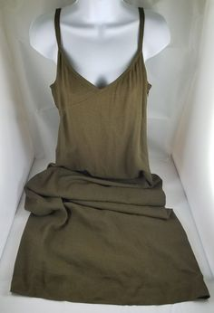906a44b520 Ann Taylor Women's Size 10 Solid Brown Lined Spaghetti Strap Knee Length  Dress | eBay. Tracy BrownMid Length DressesEllen ...