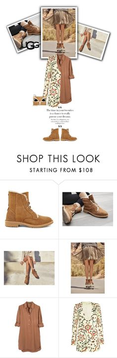 """""""The New Classics With UGG: Contest Entry"""" by smiljana-s ❤ liked on Polyvore featuring UGG, United by Blue, Alice + Olivia, Betsey Johnson and ugg"""