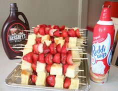Oh, How Pintearesting!: Summer of 60 Pins, #30: Strawberry Shortcake Kabobs