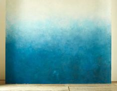 yourself with an ombre wall. Reward yourself with an ombre wall.Reward yourself with an ombre wall. Ombre Painted Walls, Ombre Walls, Paint Walls, Wall Murals, Wall Art, Diy Ombre, Blue Ombre, White Ombre, Paint Effects