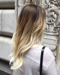 caramel and blonde balayage for brunettes - you can do TWO COLOURS....