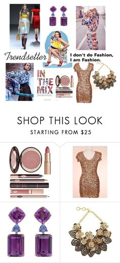 A fashion look from October 2017 featuring evening cocktail dresses, statement necklace and amethyst jewelry. Browse and shop related looks. Amethyst Jewelry, Charlotte Tilbury, Fashion Looks, Creative, Polyvore, Shopping, Dresses, Vestidos, Dress
