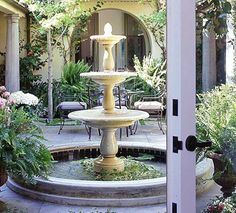 kitchen designs Great garden fountains