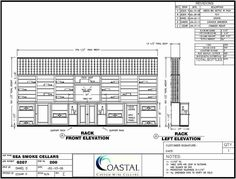 A representation of the horizontal display and waterfall display racking systems. Coastal Custom Wine Cellars 26222 Paseo Toscana San Juan Capistrano, CA California Office: