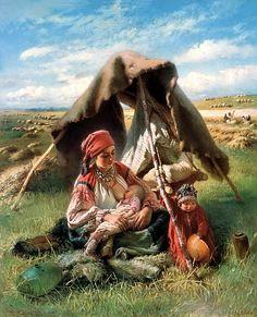 MAKOVSKY Constantine - reaper. 900 Classic russian paintings