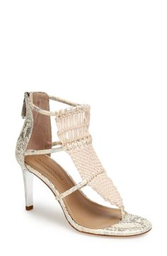 BCBGMAXAZRIA Caged Leather Sandal available at #Nordstrom