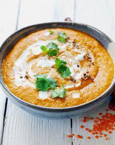 Soupe aux lentilles corail, coco et curry #seriousaboutfood