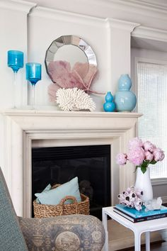 Turquoise on the mantle #floridabeachproperties www.blackburninvestors.com  Placement/Height Variance